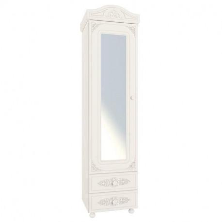Шкаф-пенал с зеркалом АС-01 белый Ассоль Санти Мебель
