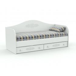 Кровать-диванчик АС-10 белый Ассоль Санти Мебель