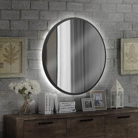Зеркало на основе ЛДСП с подсветкой Art-com ZL1 Черный