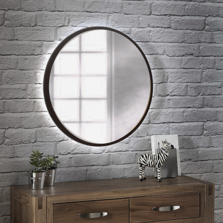 Зеркало на основе ЛДСП с подсветкой Art-com ZL1 Венге