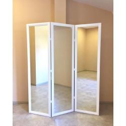 Ширма зеркальная Кантри 180х150 Белая