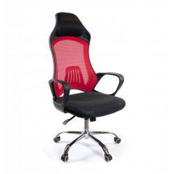 Кресло Дорос CH ANF черный/красный А-класс