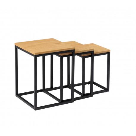 Комплект журнальных столов CS-10 (орех) Vetro Mebel