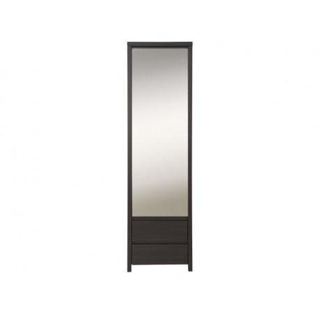 Шкаф с зеркалом узкий в прихожую BRW Каспиан SZF 1D2SP Венге