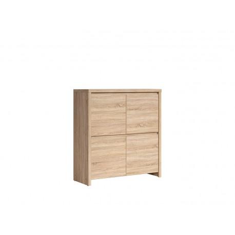 Комод-шкафчик четырехдверный BRW Каспиан KOM 4D Сонома