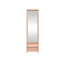 Шкаф с зеркалом узкий в прихожую BRW Каспиан SZF 1D2SP Сонома