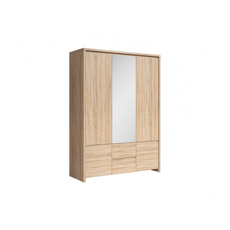 Шкаф с зеркалом в спальню BRW Каспиан SZF 5D2S Сонома