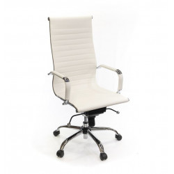 Кресло компьютерное с тонкой спинкой Кап CH MB А-класс Белый