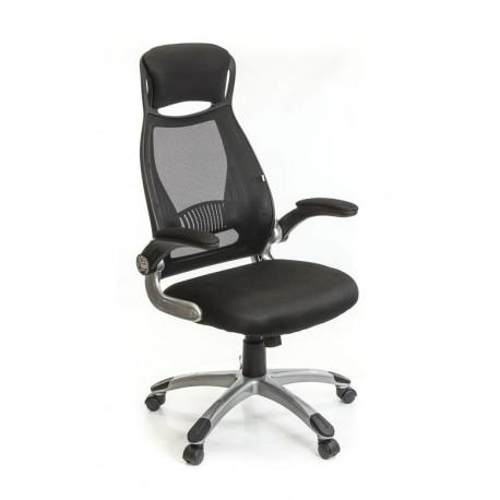 Кресло с сетчатой спинкой Винд PL TILT черный А-класс