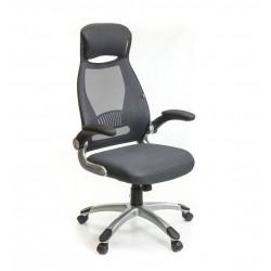 Кресло с сетчатой спинкой Винд PL TILT серый А-класс