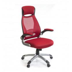 Кресло офисное с сетчатой спинкой Винд PL TILT красный А-класс