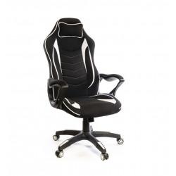 Кресло геймерское тканевое Кронум PL TILT черно-белый А-класс