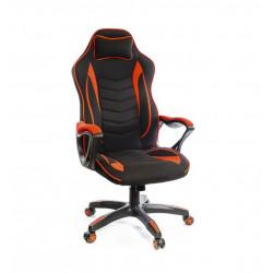 Кресло геймерское тканевое Кронум PL TILT черно-красный А-класс