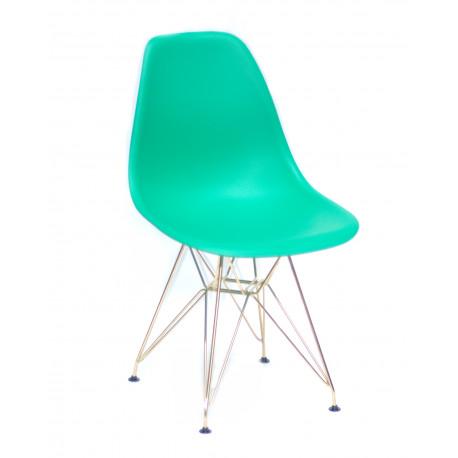 Стул дизайнерский из пластика и металла Onder Mebli Ник GD-ML Зеленый 47