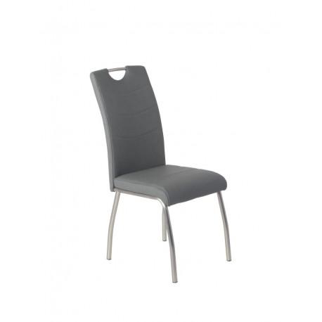 Стул металлический с мягким сиденьем N-150 серый Vetro Mebel