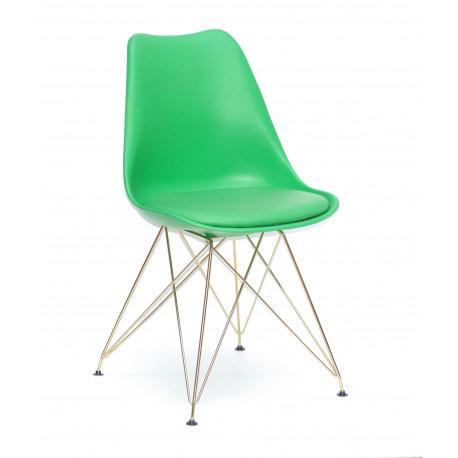 Стул пластиковый с мягким сидением Onder Mebli Милан GD-ML Зеленый 44