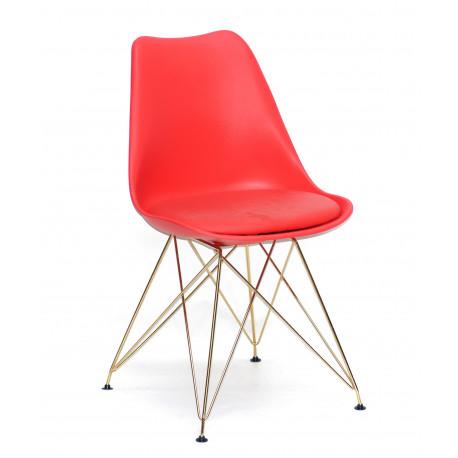 Стул пластиковый с мягким сидением Onder Mebli Милан GD-ML Красный 05