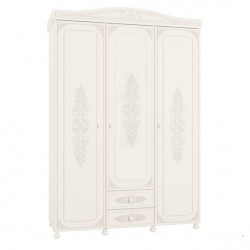 Шкаф трехдверный АС-27 белый Ассоль Санти Мебель