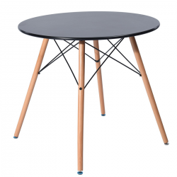 Стол кухонный круглый Тауэр Вуд 100 черный Группа СДМ