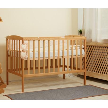 Кроватка детская деревянная без механизма Goydalka Anet 1B22-2 Бук