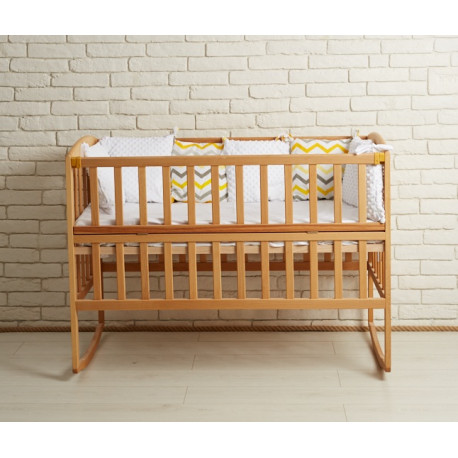 Кроватка детская на полозьях деревянная Goydalka Ameli 1B215-2 Бук