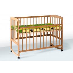 Кроватка детская на полозьях с подвижным бортиком Goydalka Ameli 1B21-2 Бук