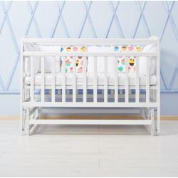Кроватка детская с маятниковым механизмом Goydalka Valeri 1B29-7-1,2,3Р Белая