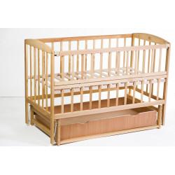 Ліжечко дитяче з шухлядою і маятниковим механізмом Goydalka Valeri 1B220-2Р Бук