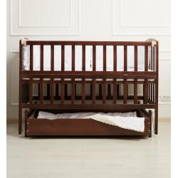 Кроватка детская с ящиком и маятниковым механизмом Goydalka Valeri 1B220-7-1,2,3Р Венге