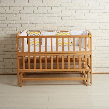 Кроватка детская с маятниковым механизмом Goydalka Valeri 1В216-2 Р Бук