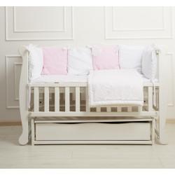 Ліжечко для новонародженого з шухлядою і маятником Goydalka Natali 1В310-7-1,2,3 Біле