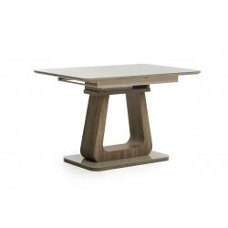 Стол раскладной современный ТМL-521 (капучино+дуб) Vetro Mebel