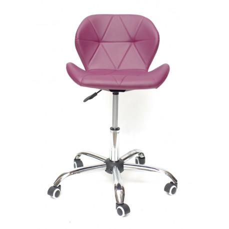 Кресло Onder Mebli Инвар Office ЭкоКожа Пурпурный 61