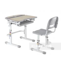 Комплект дитяча парта і стілець-трансформер Sorriso Grey FunDesk