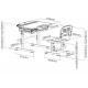 Комплект парта и стул-трансформер Sorriso Grey FunDesk