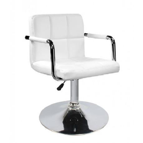 Кресло с подлокотниками Onder Mebli Арно Arm CH - Base Экокожа Белый