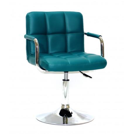 Кресло с подлокотниками Onder Mebli Арно Arm CH - Base Экокожа Зеленый 1002