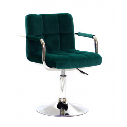 Кресло с подлокотниками Onder Mebli Арно Arm CH - Base Бархат Зеленый В-1003
