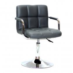Кресло с подлокотниками Onder Mebli Арно Arm CH - Base Экокожа Серый 1001
