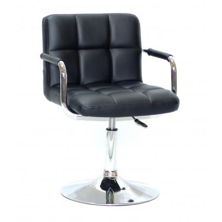 Кресло с подлокотниками Onder Mebli Арно Arm CH - Base Экокожа Черный