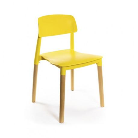 Стул пластиковый кухонный Фредо EX желтый А-класс