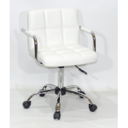 Кресло с подлокотниками Onder Mebli Арно Arm CH - Office Экокожа Белый