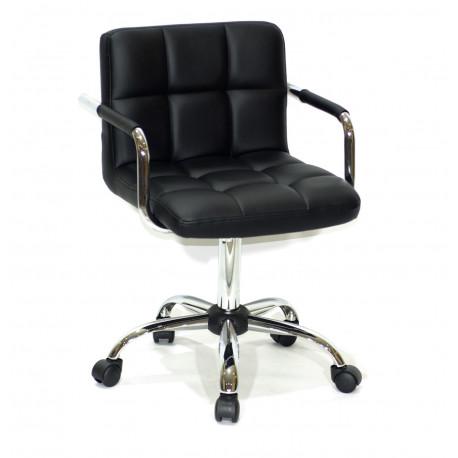 Кресло с подлокотниками Onder Mebli Арно Arm CH - Office Экокожа Черный