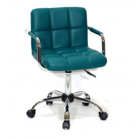 Кресло с подлокотниками Onder Mebli Арно Arm CH - Office Экокожа Зеленый 1002