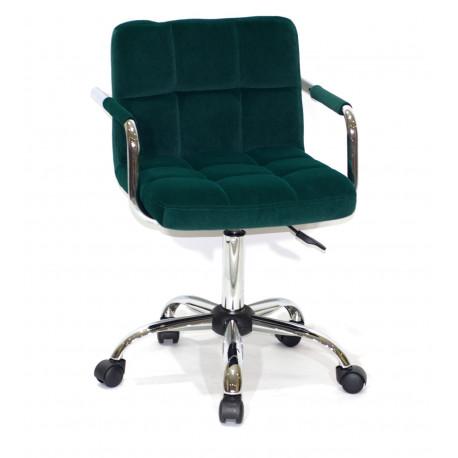Кресло с подлокотниками Onder Mebli Арно Arm CH - Office Бархат Зеленый В-1003