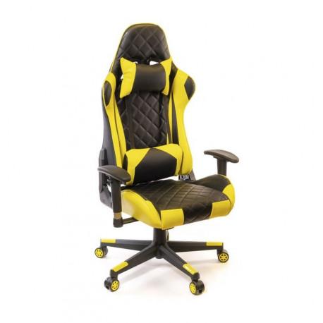 Кресло Пегас PL RL черно-желтый А-класс