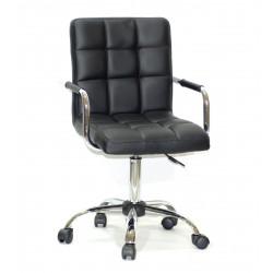 Кресло для персонала Onder Mebli Augusto Arm CH - Office Экокожа Черный