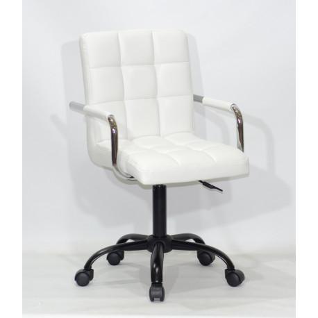 Кресло для персонала Onder Mebli Augusto Arm BK-Office Экокожа Белый