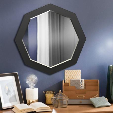 Зеркало восьмиугольное с фацетом на основе ЛДСП Art-com Z1 Черный