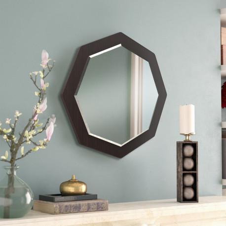 Зеркало восьмиугольное с фацетом на основе ЛДСП Art-com Z1 Венге